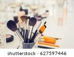 set of professional makeup... | Shutterstock . vector #627597446