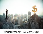 side view of young businessman... | Shutterstock . vector #627598280