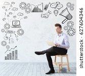 young european businessman... | Shutterstock . vector #627604346