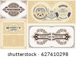 labels and cards set | Shutterstock .eps vector #627610298