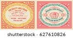 vintage cards set | Shutterstock .eps vector #627610826