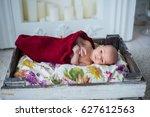 little girl with big eyes | Shutterstock . vector #627612563