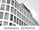 modern office building. black... | Shutterstock . vector #627614114