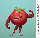 vector cartoon image of a red... | Shutterstock .eps vector #627614168