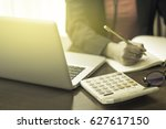young professional woman works... | Shutterstock . vector #627617150