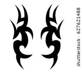 tribal tattoo art designs.... | Shutterstock .eps vector #627621488