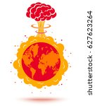 vector illustration of a bomb...   Shutterstock .eps vector #627623264
