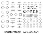 circle and square wicker... | Shutterstock .eps vector #627623564