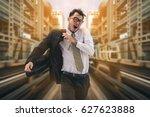 rushing businessman running... | Shutterstock . vector #627623888