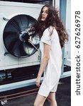 streetstyle  fashion. teenager... | Shutterstock . vector #627626978