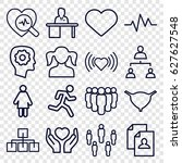 human icons set. set of 16... | Shutterstock .eps vector #627627548