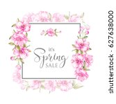 spring sale card. awesome... | Shutterstock . vector #627638000