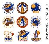 astronaut flight  aviation ...   Shutterstock .eps vector #627646310