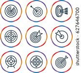 dart icons set. set of 9 dart... | Shutterstock .eps vector #627646700