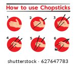 how to use chopsticks | Shutterstock .eps vector #627647783