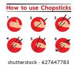 how to use chopsticks   Shutterstock .eps vector #627647783