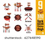barbecue icons | Shutterstock .eps vector #627648590