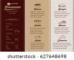 placemat design template vector ... | Shutterstock .eps vector #627648698
