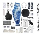 fashion blogger concept.... | Shutterstock . vector #627649904