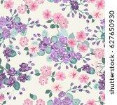 seamless delicate pattern of...   Shutterstock . vector #627650930
