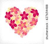 pink and yellow frangipani ...