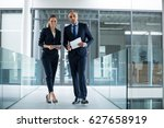 portrait of business colleagues ...   Shutterstock . vector #627658919