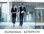 business colleagues interacting ... | Shutterstock . vector #627659174