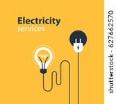 electrical services and supply... | Shutterstock .eps vector #627662570