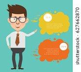 businessman concept design... | Shutterstock .eps vector #627662870