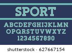 serif font modern sport design... | Shutterstock .eps vector #627667154