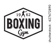 boxing gym and martial arts... | Shutterstock .eps vector #627672890