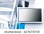 lcd screen announcement on...   Shutterstock . vector #627673724