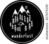 wanderlust. nature vector... | Shutterstock .eps vector #627674150