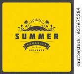 summer holidays poster design... | Shutterstock .eps vector #627675284