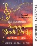 summer vibes card. vector... | Shutterstock .eps vector #627677468