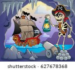 pirate cove topic image 3  ... | Shutterstock .eps vector #627678368