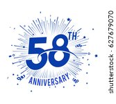 58th anniversary logo with... | Shutterstock .eps vector #627679070