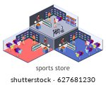 isometric flat 3d isolated... | Shutterstock .eps vector #627681230
