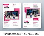 flyer design. corporate... | Shutterstock .eps vector #627683153