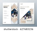 flyer design. corporate... | Shutterstock .eps vector #627683156