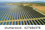 aerial view of  solar panel... | Shutterstock . vector #627686378