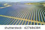 aerial view of  solar panel... | Shutterstock . vector #627686384