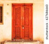 bright facade of the... | Shutterstock . vector #627686660