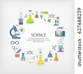 icons of science | Shutterstock .eps vector #627688259