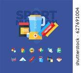 sport nutrition icons | Shutterstock .eps vector #627691004