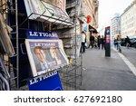 paris  france   april 24  press ... | Shutterstock . vector #627692180