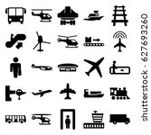passenger icons set. set of 25... | Shutterstock .eps vector #627693260