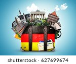 germany  german landmarks ... | Shutterstock . vector #627699674