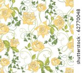 roses and ivy  seamless... | Shutterstock .eps vector #62770048