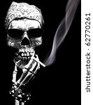 Skeleton With Attitude Smokes A ...